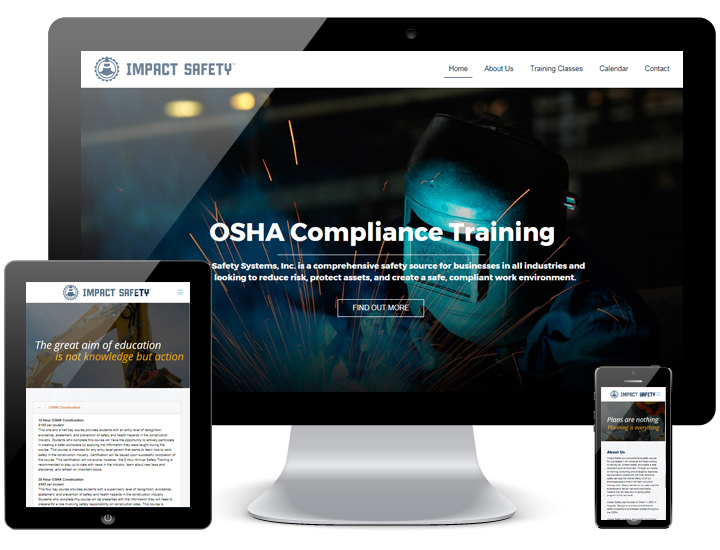 Impact Safety Inc Website by Animink
