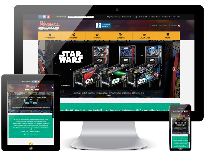 website hosting pinball company