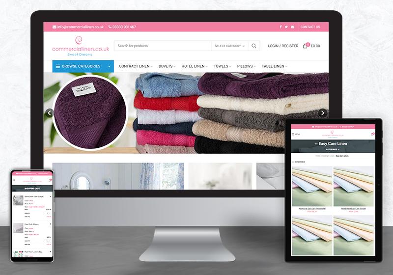 Custom eCommerce development for Commercial Linen