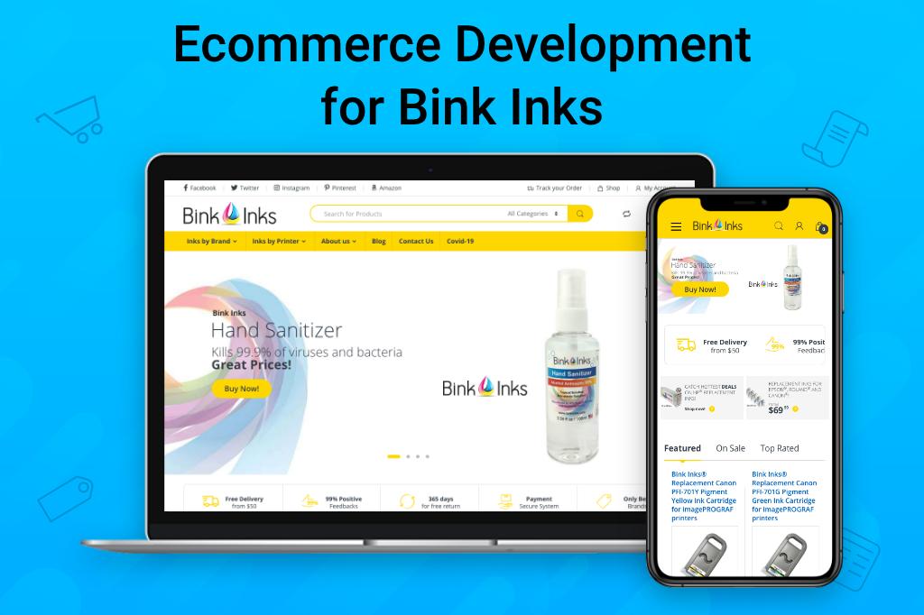 Ecommerce Development for Bink Inks