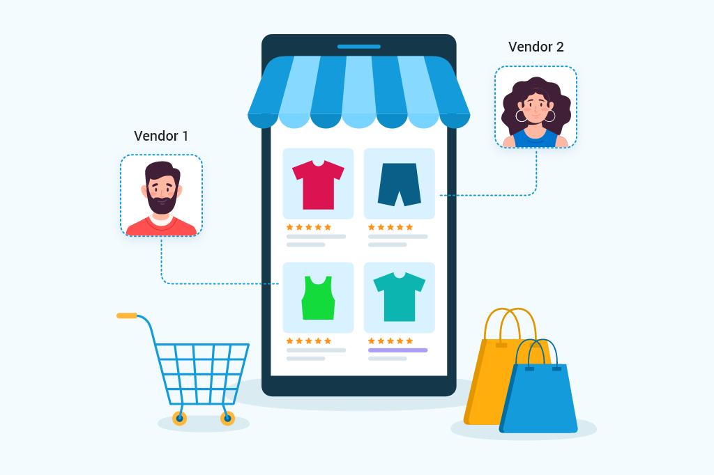 Multi-vendor online marketplaces